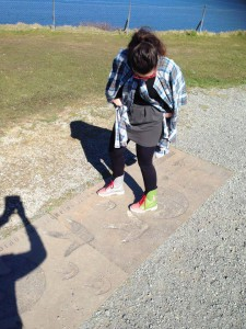 Try to compare our ankle boots with a  dinosaur footprint... Who is the winner gonna be?  (Isle of Skye)