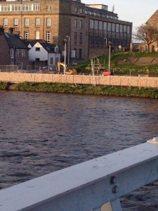 """Can you spot the """"pump shoe"""" at the bank of river Ness?"""
